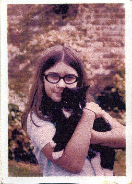 nicola with a kitten